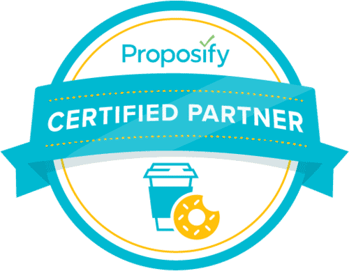 certified Proposify partner badge