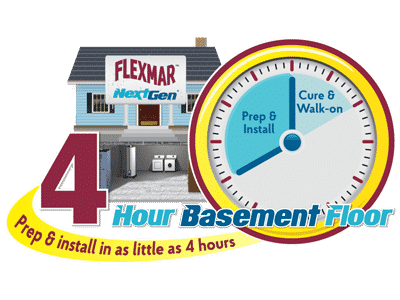 flexmar 4 hour basement floor logo