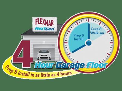 flexmar 4 hour garage floor logo