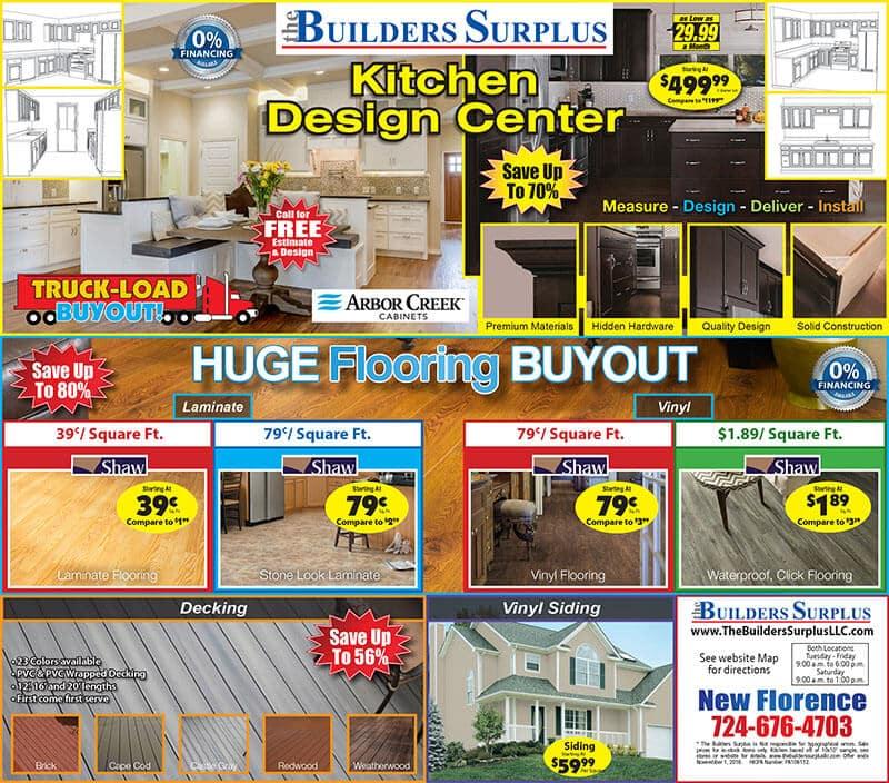 The Builders Surplus Sales Ad