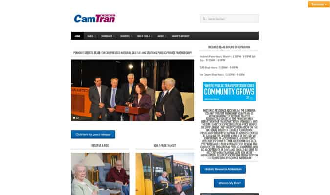 camtran-website-screenshot