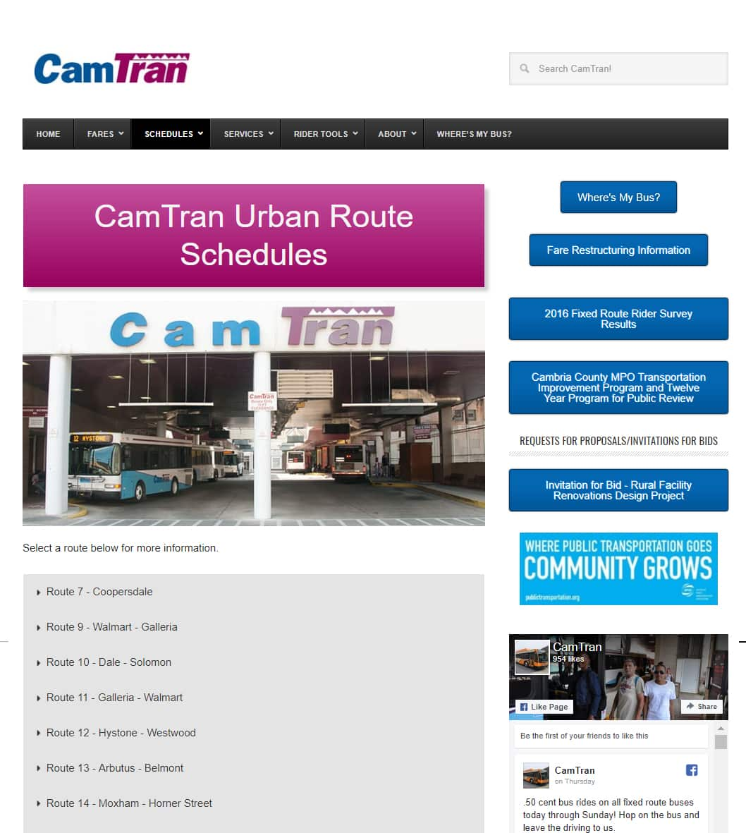 CamTran website