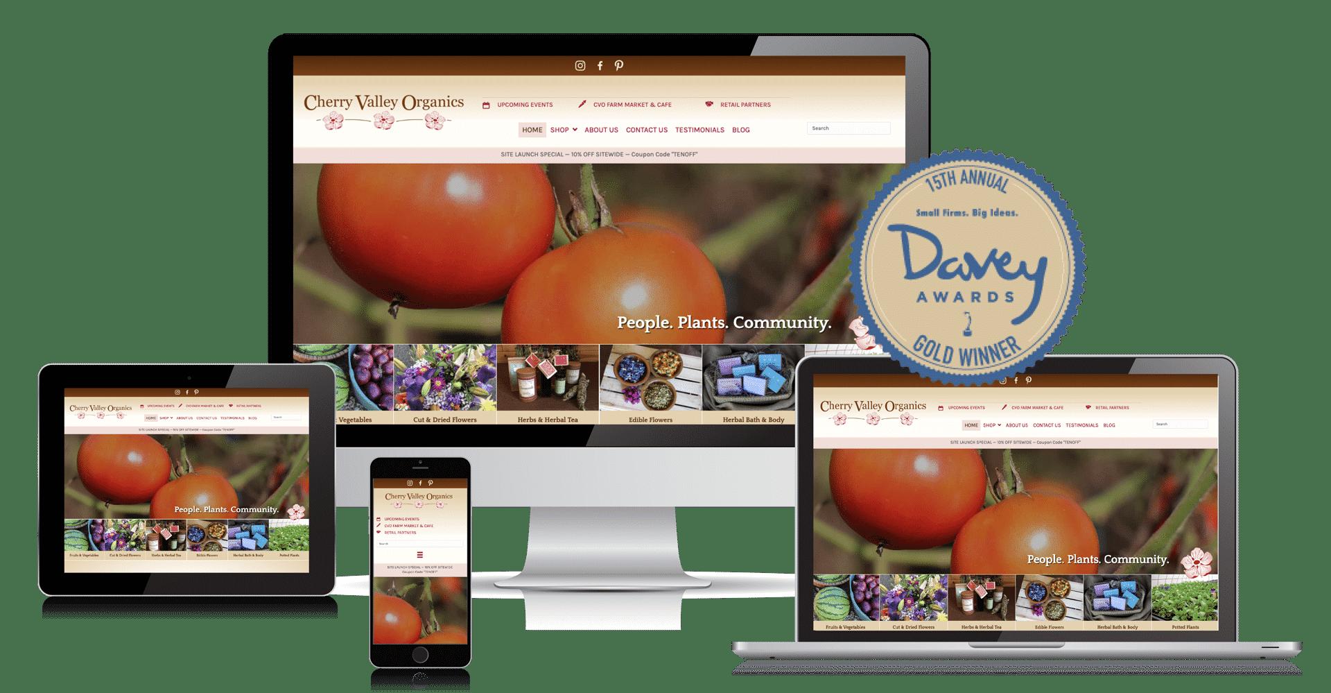 Cherry Valley Organics website