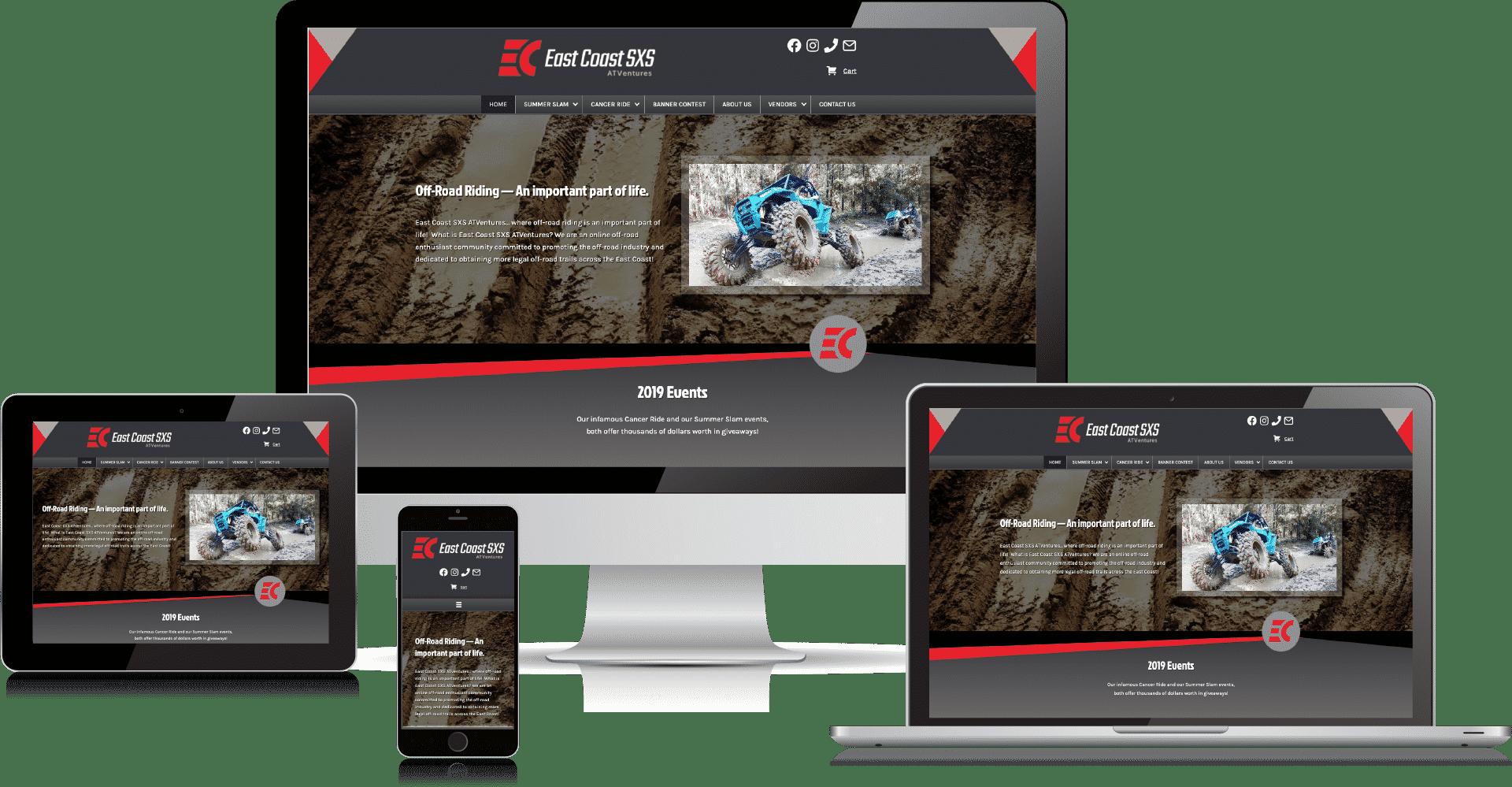 East Coast Sxs Website by 50 Marketing