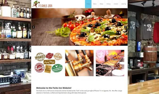 forks-inn-tavern-website-screenshot