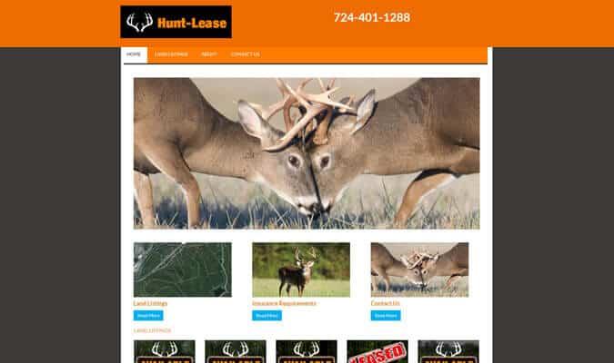 hunt-lease-website-screenshot