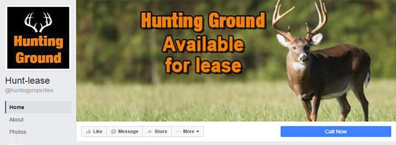 Hunt-Lease facebook page example