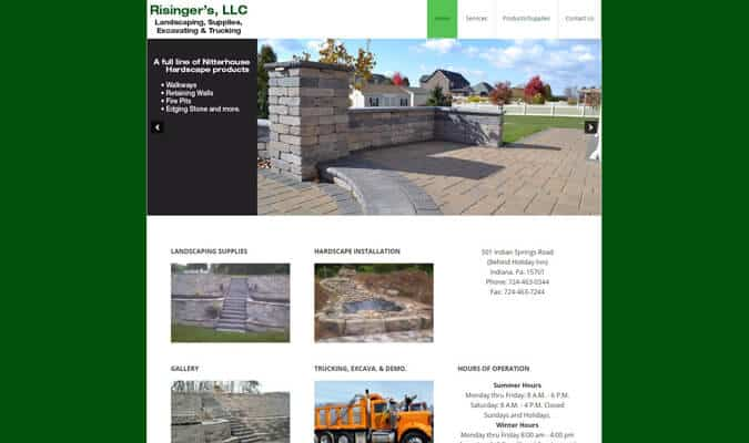risingers-landscaping-website-screenshot