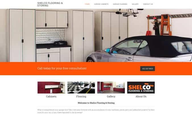 shelco-garage-website-screenshot