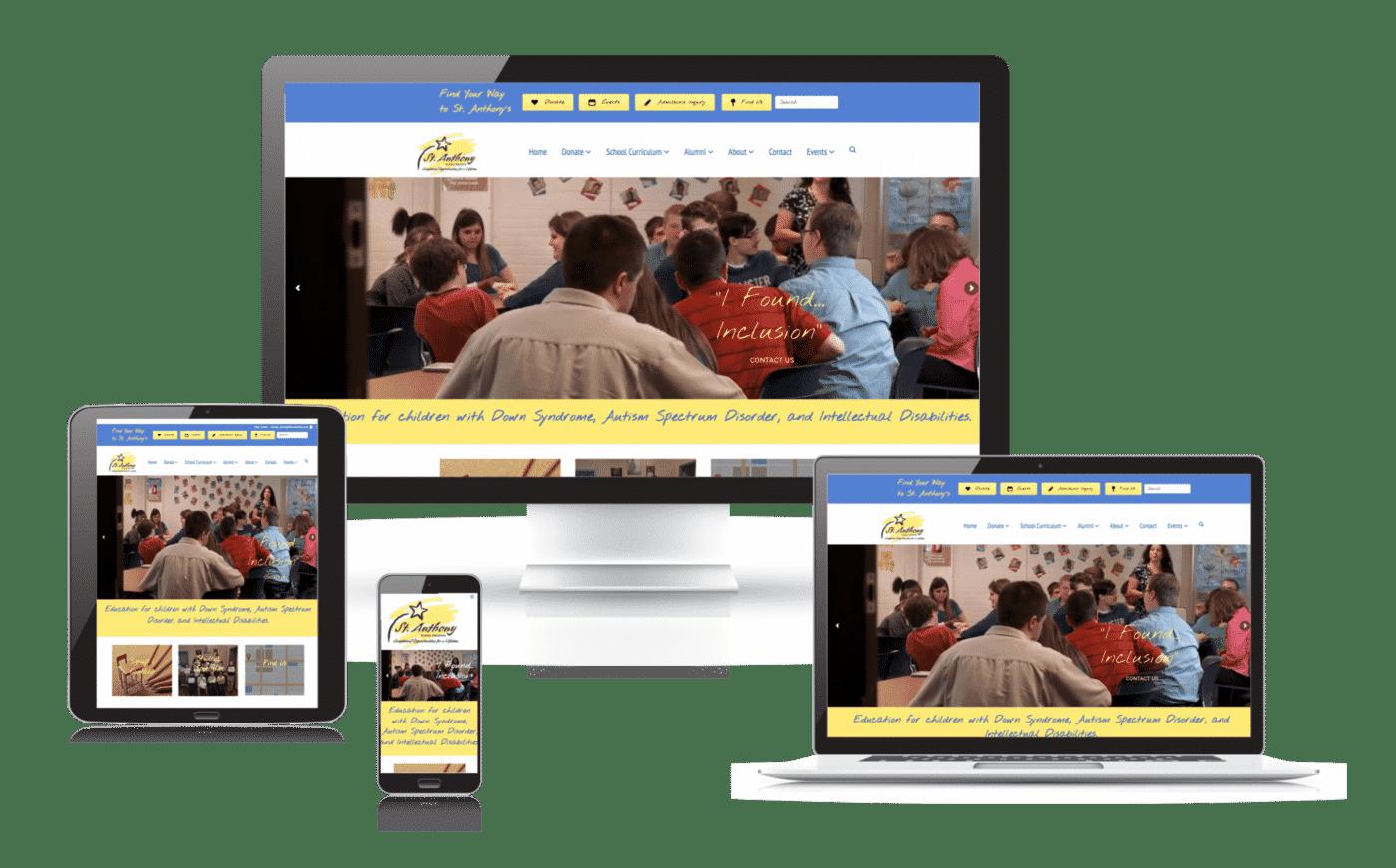 50 Markting - St Anthony Kids website