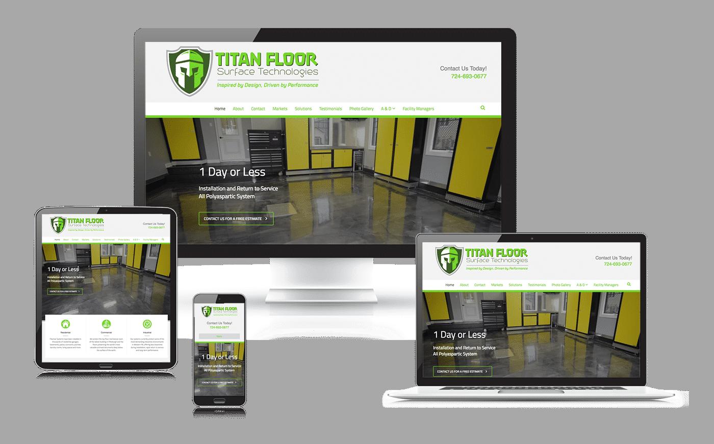 Titan Floor website