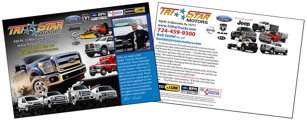 Tri-Star Motors Post Card