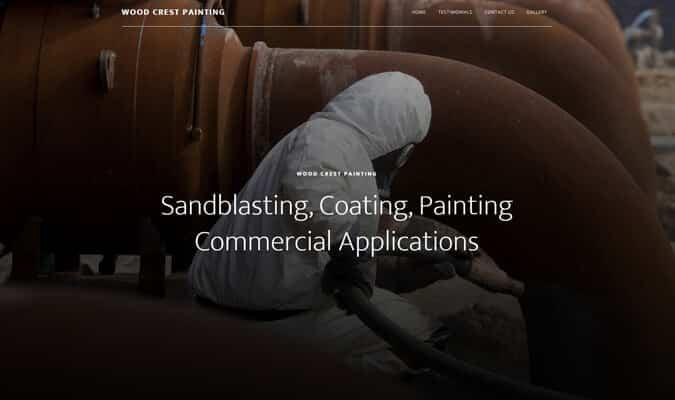 wood-crest-painting-website-screenshot